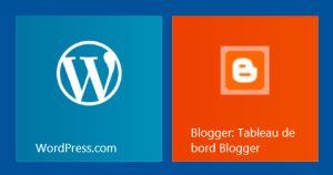 WordPress defines a tile picture. Not Blogger.