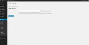 WordPress plugin settings screen