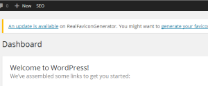 Favicon update notification for WordPress plugin