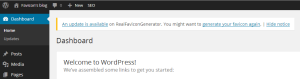 WordPress plugin favicon update notification