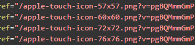 Favicon versioning example