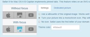 Safari's pinned tabs support (Mac OS X El Capitan)