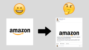 Amazon Open Graph image and on Facebook