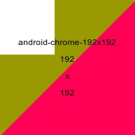 Android Chrome favicon, 192x192 picture