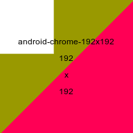 Android Chrome favicon, 192x192 picture