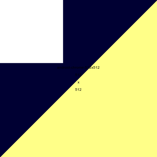 Android Chrome favicon, 512x512 picture